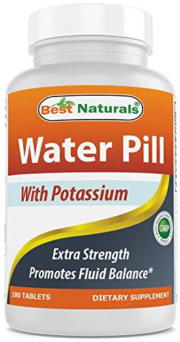Best Naturals Water Pills with Potassium Tablet, 180 Count