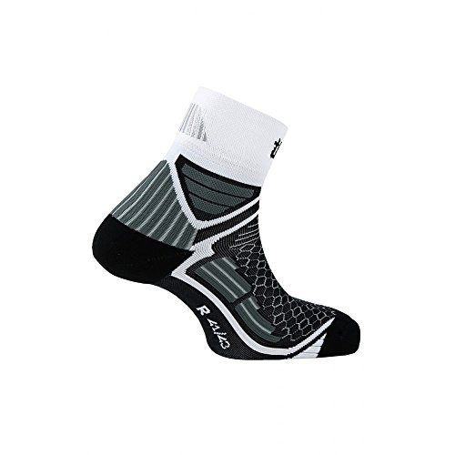 Thyo - Chaussettes tiges courtes Energy Run - couleur - Noir blanc - Pointure - 44-46