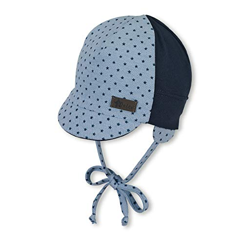 Sterntaler Sterntaler Schirmmütze für Jungen mit Bindebändern und Ohrenklappen, Alter: 5-6 Monate, Größe: 43, Hellblau (Himmel)