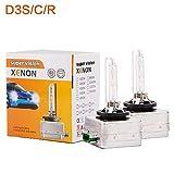 Ricoy D3S HID Xenon lampadina di ricambio per fari auto 12 V 35 W (confezione da 2) (8000 K)
