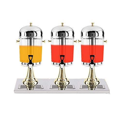 Comercial dispensador de la bebida Bebidas máquina de zumo Ding, Tres grifo de Bebidas Carbonatadas Máquina de Hotel Restaurante Buffet leche barril (Tamaño: 24L) para la limonada, té, agua fría