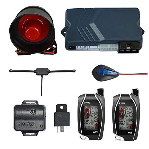 BANVIE 2 Way Car Alarm System with Remote Engine Start Starter