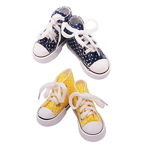 harayaa 2 Pares de Zapatillas de Lona en Miniatura con Cordones Zapatillas Casuales