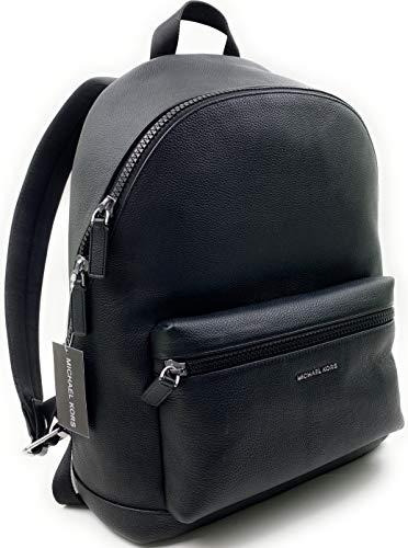 MICHAEL KORS MENS Cooper Backpack Bag Pebbled Leather, Black