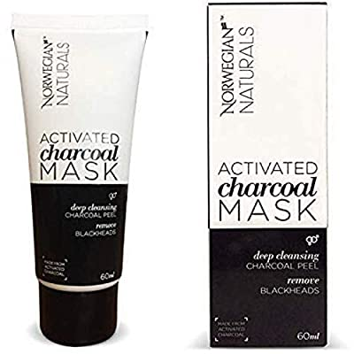 PREMIUM Blackhead Remover Activated Charcoal Mask 60 ml [Removes Blackheads] - Purifying Quality Black Peel off Charcoal Mask - Best Mud Facial Mask
