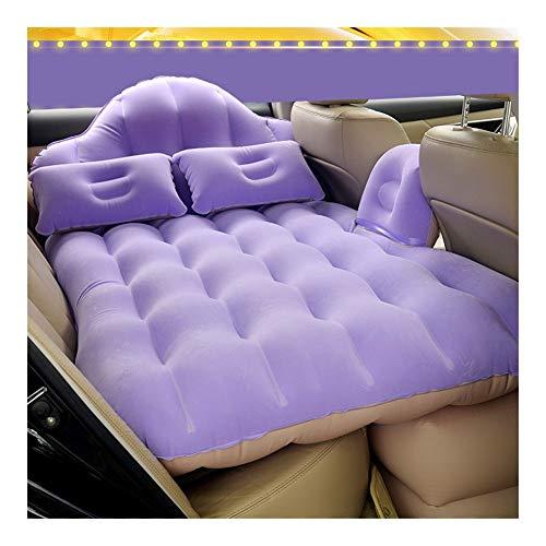 Guoziya Car Air Matelas Gonflable Lit Pliant Matelas Gonflable Camping Airbed sans Pompe Voyage en Plein Air SUV Coussin De Couchage Universel (Couleur : Purple)