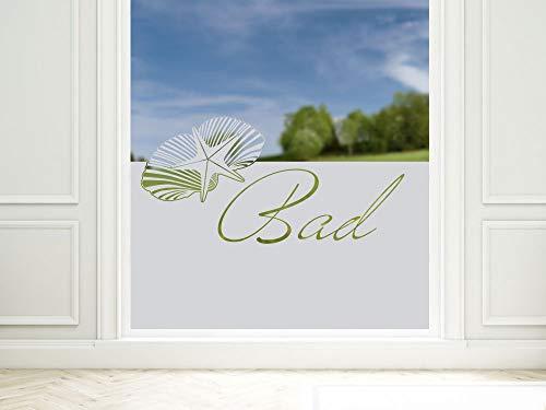 Graz Design 980087_90x57 raamdecoratie melkglasfolie inkijkbescherming folie badkamer toilet (Gre=90x57cm)
