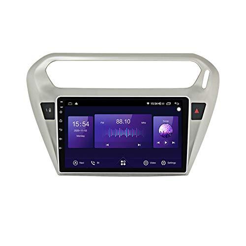 Estéreo de navegación con radio para automóvil Android para Peugeot 301 2013-2016 Pantalla táctil 9 pulgadas con reproductor multimedia MP5 Receptor de video y radio con Carplay DSP,7862,6+128G