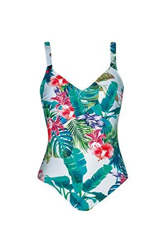 Olympia Damen Badeanzug Eden Summer mit Softschalen, Größe:42D, Farbe:Mehrfarbig (multicolor99)