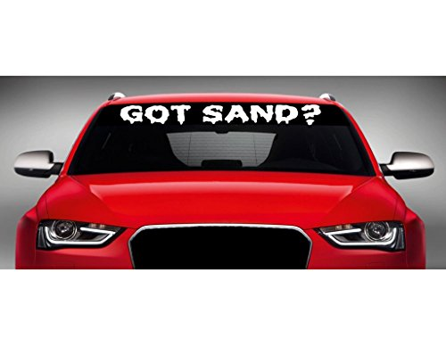 Noizy Graphics 40' x 4' Got Sand? - 4x4 Lifted Truck Windshield Sticker Car Window Vinyl Decal Color: Lime Green