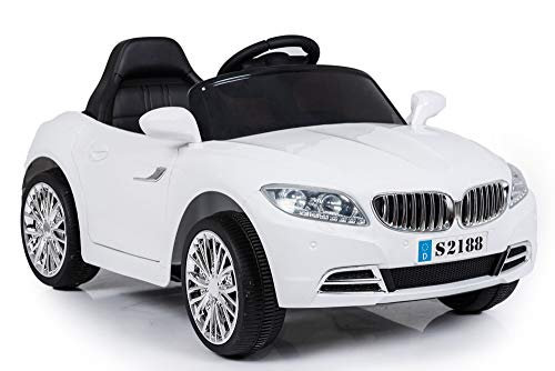 """Ricco S2188 """"Lights and Music Pink BMW Style Kids Ride on"""" Remote Control Car (WHITE)"""