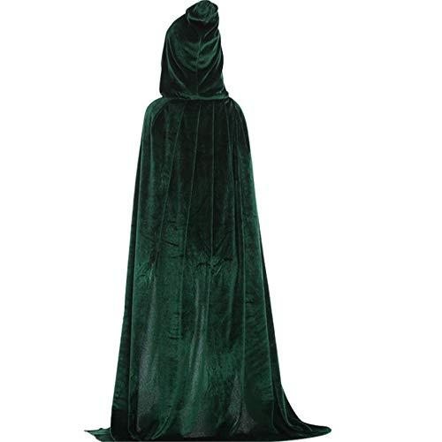 KSFC Christmas Cloak, Children's Adult Role-Playing, Dense Velvet Show Dress Up Witch Death Cloak Cloak