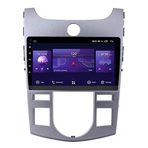 WY-CAR Android 8.1 Coche Radio Estéreo Navegador para KIA Forte 2009-2014, Unidad De Cabeza De Navegación GPS De 9 Pulgadas IPS GPS, FM/Bluetooth/SWC/Enlace De Espejo/Cámara De Vista Trasera