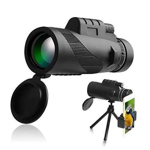 AYYDS Monokular Teleskop HD 40X60 FMC BAK4 Prisma Fernrohr Monokular für Kinder & Erwachsene mit Smartphone Halter Stativ für Vogelbeobachtung, Reisen