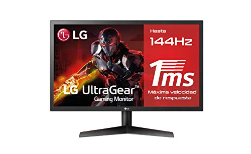 LG 24GL600F-B - Monitor Gaming QHD de 59,8 cm (24') con panel TN (1920 x 1080 píxeles, 16:9, 1 ms, 144Hz, FreeSync LFC, 300...
