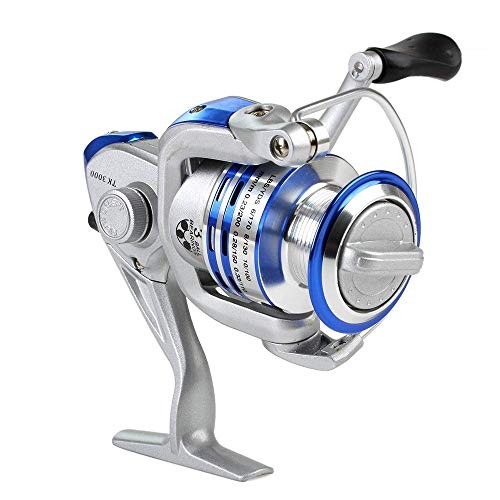 RVTYR Angelrollen TK 2000-5000 Serise Angelrolle, 3 Kugellager Links/rechts Austauschbare Sea Spinning Reel angelrolle (Color : Silver, Size : TK5000)