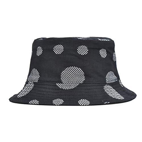 HWY Packbare Wende-Eimer Hut Sonnenschutz Hüte White Dot Patterned