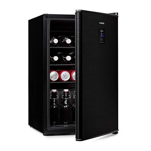 KLARSTEIN Beer Baron - Frigorifero per Bevande, Volume: 68 Litri, CEE Classe F, Temperatura: 0-10 °C, Pannello di Controllo Touch, 3 Ripiani a Griglia Regolabili, Nero