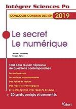 Le secret. Le numérique - Tout pour réussir l'épreuve de questions contemporaines de Ghislain Tranié