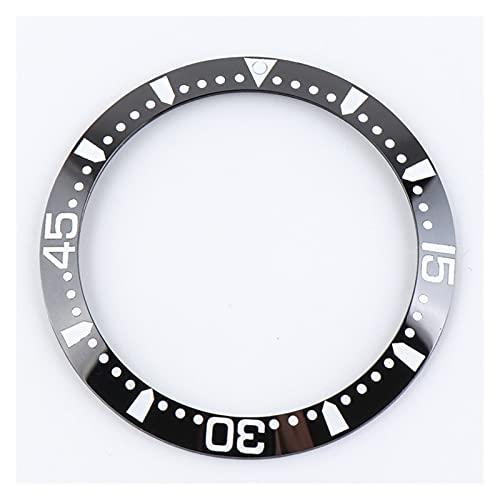 ZRNG 39mm Negro Azul cerámico Bisel Inserto Ajuste para longines hidroconquest l3.781 l3.742/841 41mm dial Hombre Reloj de Reloj reemplazar Accesorios (Color : Black 2)
