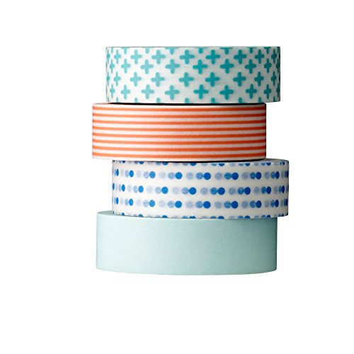 Bloomingville Tape, blau rot, Papier, 4er Set