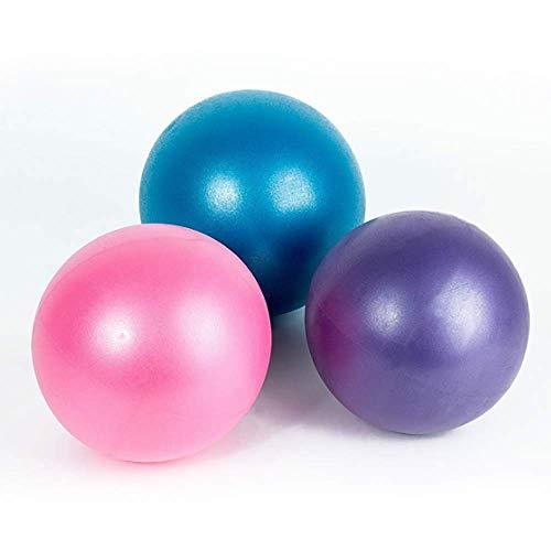 TOCYORIC Palle da ginnastica 3 PC Palla per Lo Yoga 25cm Palla Pilates Palla Pilates Piccola per Ginnastica Ritmica per Fitness Equilibrio Palestra Allenamento Anti-Scoppio Antiscivolo Esercizio Ball