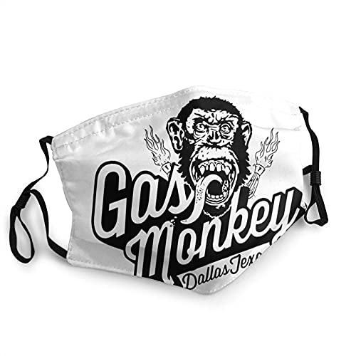 Máscara de borde de ajuste para adultos, diseño de mono gas-mono, protección facial portátil, bandana, borde elástico, pasamontañas, 20 x 15 cm