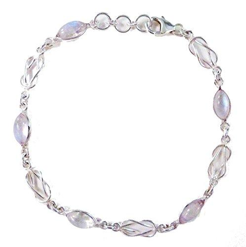 Esprit Creations Moonstone & Celtic Love Knot Bracelet Sterling Silver