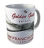 DESSAPT EDITIONS L ART DU SOUVENIR - Tazza San Francisco Golden Gate in Bianco e Nero - Made in France