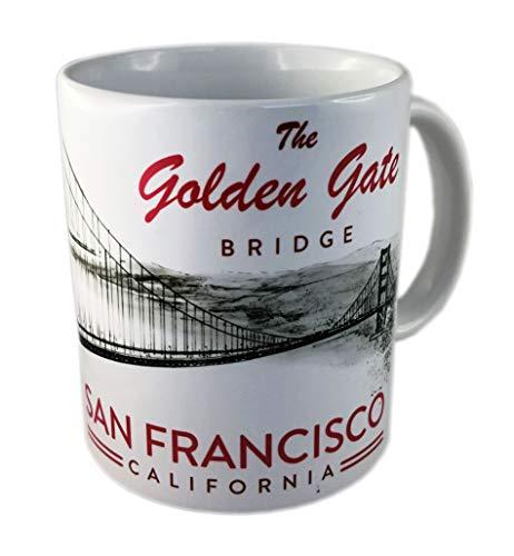 DESSAPT EDITIONS L ART DU SOUVENIR - Mug San Francisco Golden Gate Noir et Blanc - Made in France