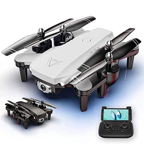 L103 WiFi FPV Drone con cámara Dual 4K HD, Quadcopter Plegable de Mantenimiento de Altura de Flujo óptico, Drone de Control Remoto para fotografía aérea de Gestos para Principiantes, Adultos