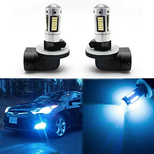 Xotic Tech Pair 30-SMD 8000K Ice Blue 886 894 896 889 LED Fog Light Bulbs Compatible with Hyundai Elantra 2012-2016, Accent 2008-2017