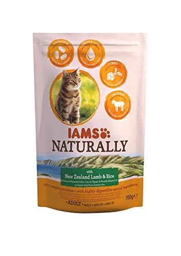IAMS Naturally Alimento Secco per Gatti Adulti, con Riso e Agnello della Nuova Zelanda, 700 g