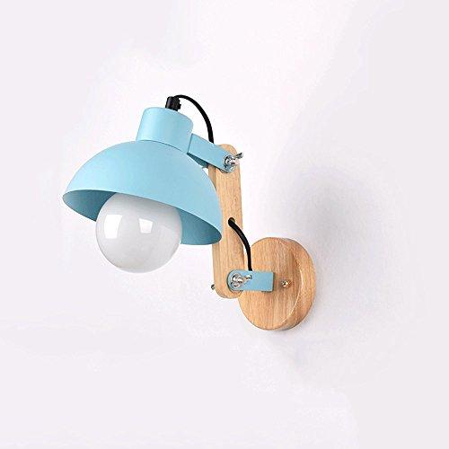 Macarons houten wandlamp smeedijzeren multicolor wandlamp slaapkamer nachtslaapkamer slaapkamer nachtkastje lamp wandlamp jongen meisjes leuke persoonlijkheid leeslamp