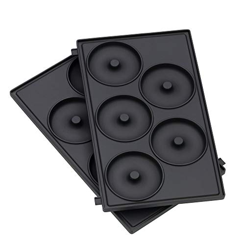 WMF LONO Snack Master Zubehör, Donut Platten-Set, 2 abnehmbare Plattensets, antihaftbeschichtet