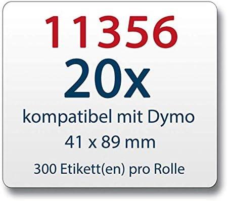 3 ROLLEN ETIKETTEN weiss 41x89mm für DYMO Labelwriter 320 320 II
