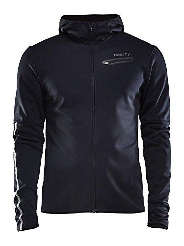 Craft Eaze Jersey Hood, Giacca Uomo, Nero, S