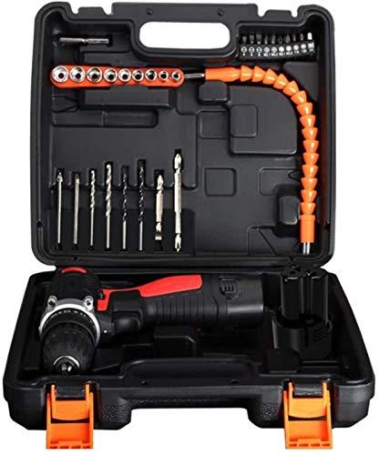 TYUIOYHZX Destornillador inalámbrico de taladro, taladros eléctricos Tornillos de herramientas de potencia de herramientas multi-herramientas establecidas para mejoras para el hogar y proyecto DIY 12V