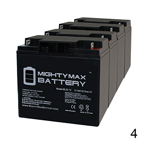 Mighty Max Battery 12V 22Ah Baoshi 6-DZM-20 6DZM20 Scooter Bike Sealed Battery - 4 Pack Brand Product