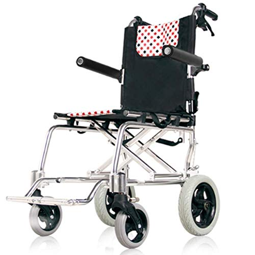 N/Z Home Equipment Lightweight Folding Wheelchair Thick Aluminum Alloy Wheelchair Folding Collapsible Lightweight Ultra Light Old Man Trolley Old Man Scooter Portable Compact Driving Medical fgk