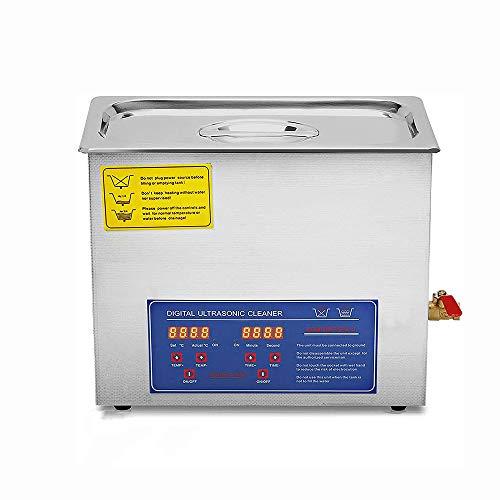 USWEAR 6L Ultraschall-Reinigungsmaschine Aus Edelstahl Ultraschall-Reinigungsmaschine Digitaler Heizung Timer Schmuck Reinigung Für Kommerziellen Persönlichen Haushalt