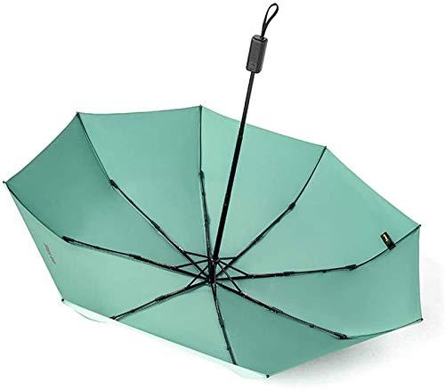 MGEE Paraguas De Viaje, Compacto, Plegable, UV, para Protección Solar, 8 Varillas, Cierre Automático, para Mujeres, Hombres, Paraguas De Lluvia(Size:28cm*8K,Color:Verde)