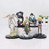 cheaaff 5 unids/Set Death Note L Killer Ryuuku Rem Misa Amane PVC Figuras de acción Modelo de Juguete