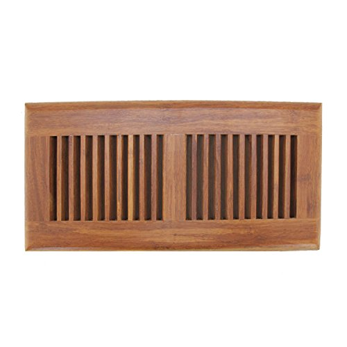 "BambooMN 4"" Inch x 12"" Inch Inch Strand Woven Bamboo Floor Register Air Vent Indent Cover - Carbonized Brown - 1 Cover"