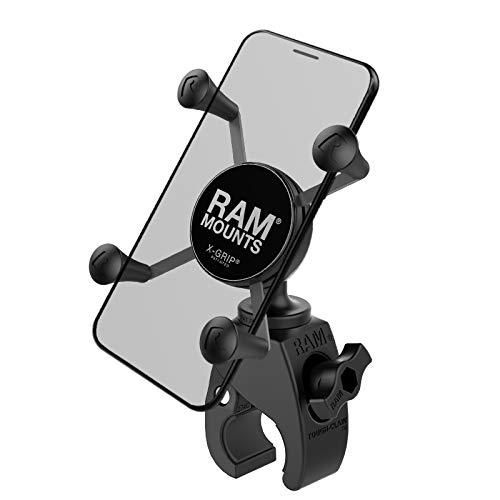 RAM Mounts X-Grip Phone Mount with RAM Snap-Link Tough-Claw RAM-HOL-UN7-400U for Motorcycle, ATV/UTV, Bike
