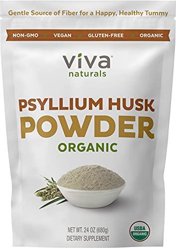 Organic Psyllium Husk Powder (1.5 lbs ) - Easy Mixing Fiber Supplement, Finely Ground & Non-GMO Powder for Promoting Regularity