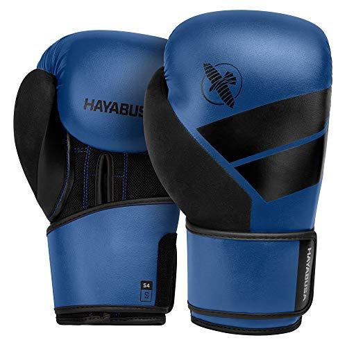 Hayabusa S4 Bokshandschoenen - Blauw - met Hayabusa Perfect Stretch Handwraps - Black - 4,5 meter 12 oz