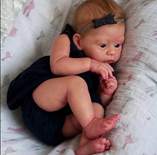 Chang Reborn Baby Doll,20 Inch Newborn Dolls Real Looking Handmade Realistic Reborn Full Body Toddler Soft Silicone Reborn Toddler Newborn Baby,21inch