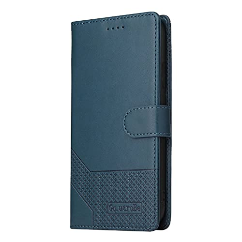 Miagon Retro Brieftasche Hülle für iPhone 6 Plus/6S Plus,PU Leder Stoßfeste Schutzhülle mit Kartenfächer Magnetisches Flip Handyhülle,Blau