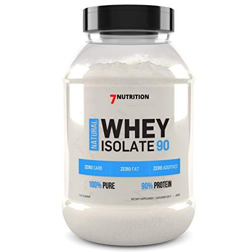 7 Nutrition Whey Isolate 90 500g 0,5kg Natural Geschmack Molkenproteinpulver Molkenprotein Pulver Muskelaufbau